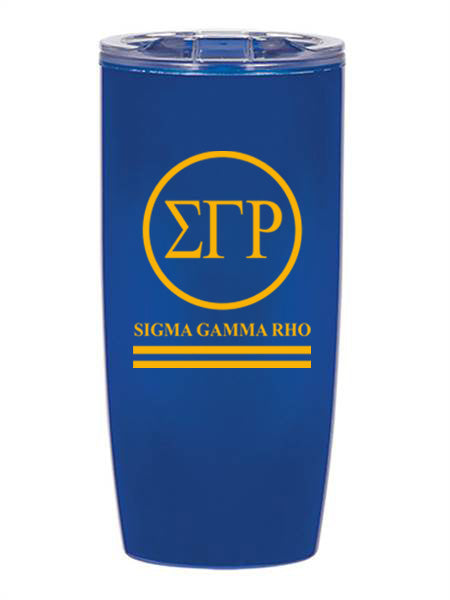 Sigma Gamma Rho Circle Stripes 19 oz Everest Tumbler