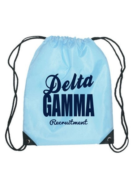 Delta Gamma Cursive Impact Sports Bag