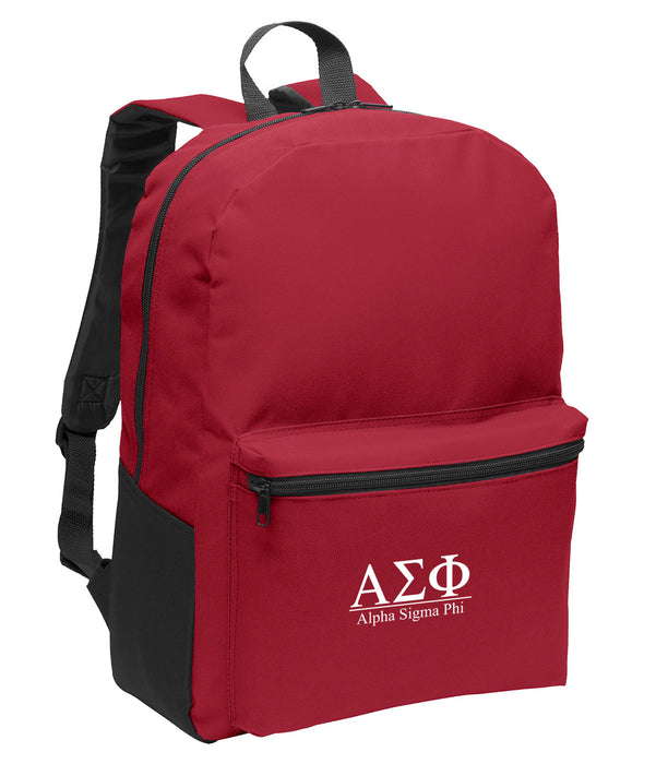 Alpha Sigma Phi Collegiate Embroidered Backpack