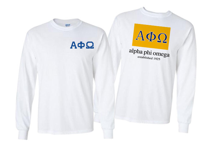 Alpha Phi Omega Long Sleeve Flag Tee
