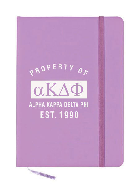 Alpha Kappa Delta Phi Property of Notebook