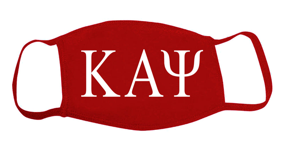 Kappa Alpha Psi Face Mask With Big Greek Letters