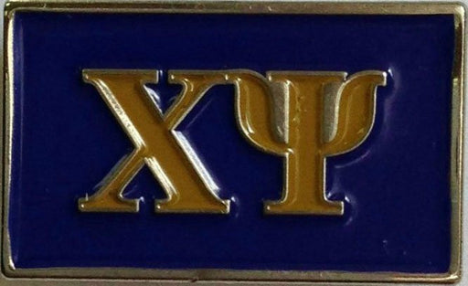 Chi Psi Fraternity Flag Pin