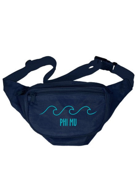 Phi Mu Wave Outline Fanny Pack