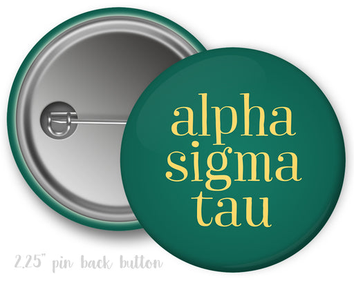 Alpha Sigma Tau Simple Text Button