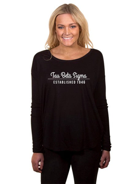 Tau Beta Sigma Year Established Flowy Long Sleeve Tee