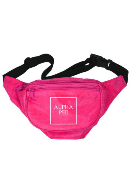 Alpha Phi Box Stacked Fanny Pack