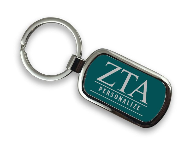 Zeta Tau Alpha Chrome Key Chain