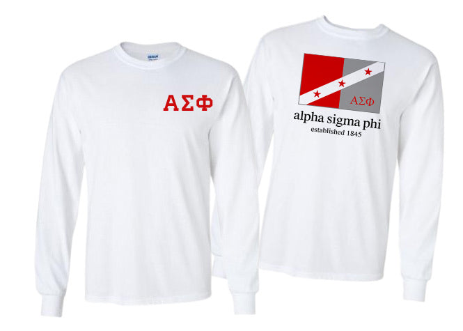 Alpha Sigma Phi Long Sleeve Flag Tee