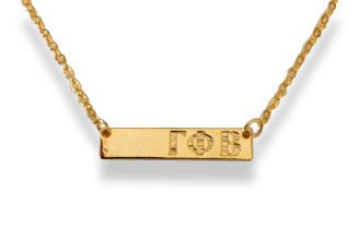 Gamma Phi Beta Bar Necklace