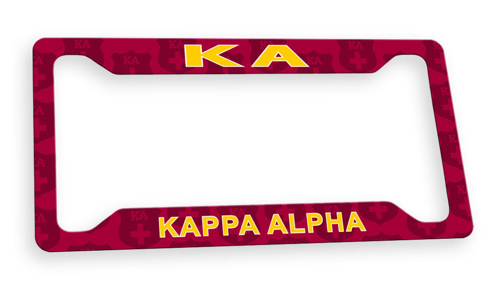 Kappa Alpha New License Plate Frame