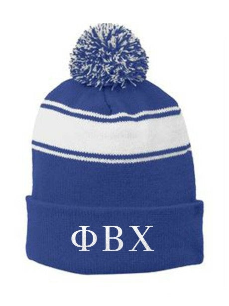 Phi Beta Chi Embroidered Pom Pom Beanie