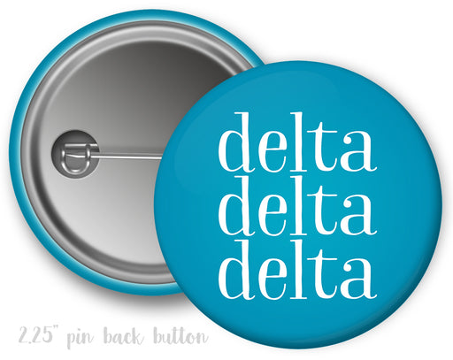Delta Delta Delta Simple Text Button