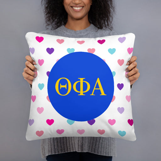 Theta Phi Alpha Hearts Basic Pillow