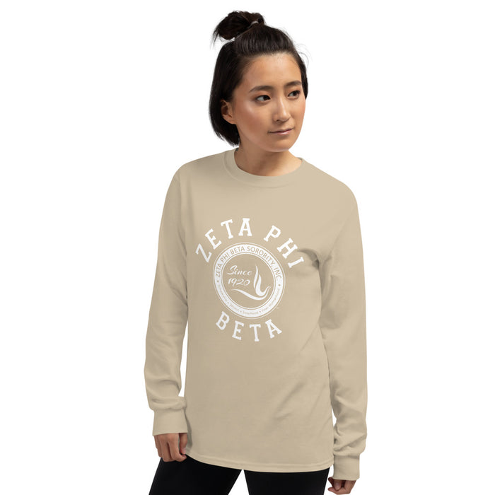 Zeta Phi Beta Crest Long Sleeve Shirt Zeta Phi Beta Crest Long Sleeve Shirt