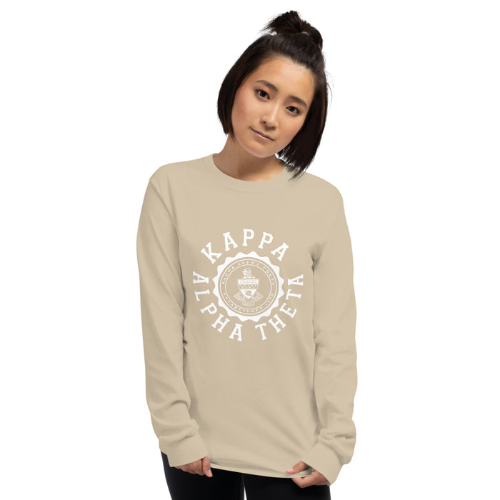 Kappa Alpha Theta Crest Long Sleeve Shirt Kappa Alpha Theta Crest Long Sleeve Shirt