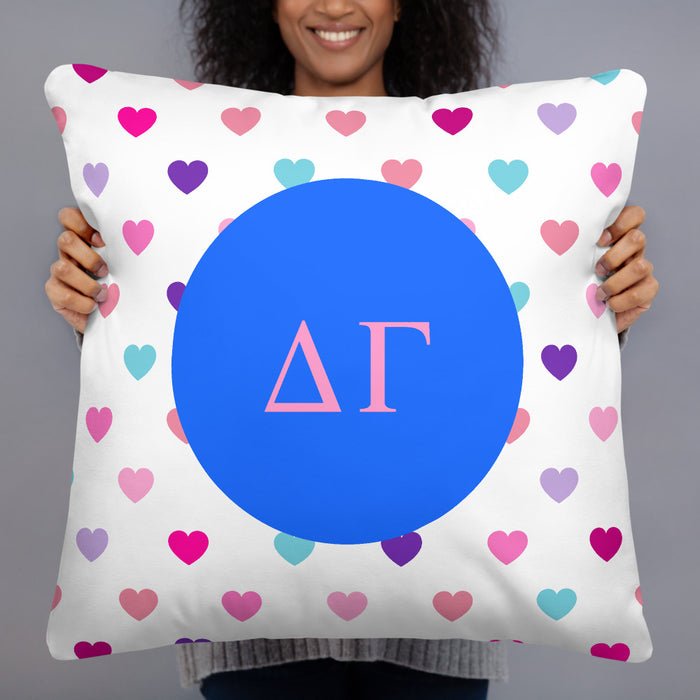 Delta Gamma Hearts Basic Pillow Delta Gamma Hearts Basic Pillow