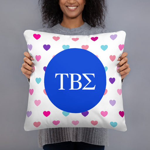 Tau Beta Sigma Hearts Basic Pillow