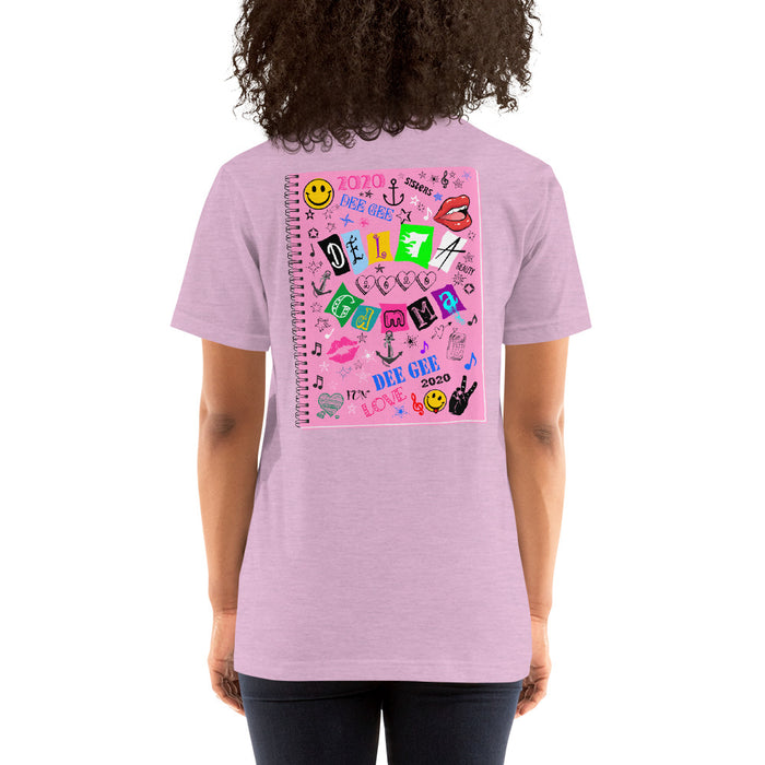 Delta Gamma Delta Gamma Graffiti Notebook Short-Sleeve Unisex T-Shirt