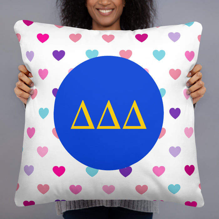 Delta Delta Delta Hearts Basic Pillow Delta Delta Delta Hearts Basic Pillow