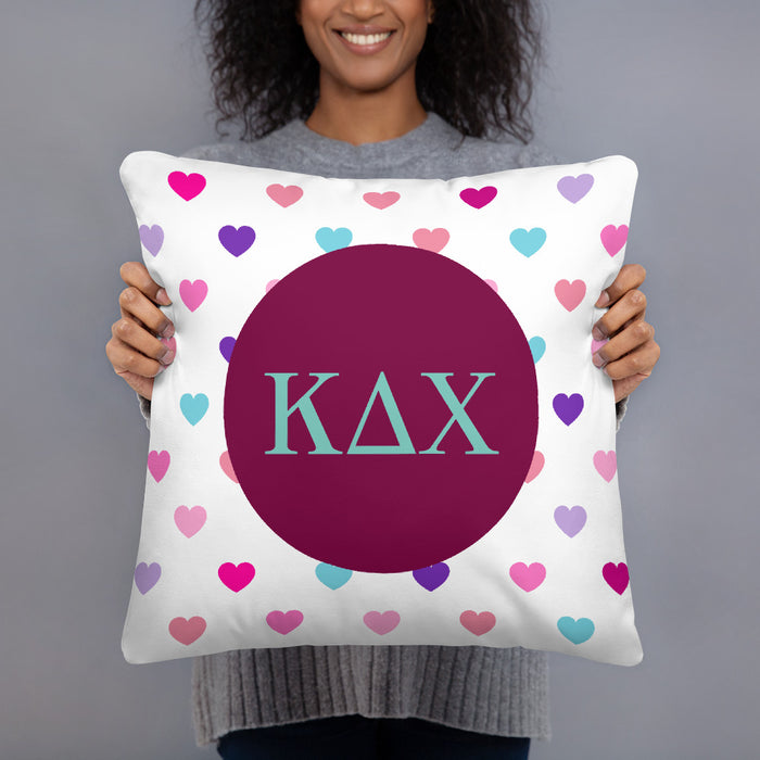 Kappa Delta Chi Hearts Basic Pillow Kappa Delta Chi Hearts Basic Pillow