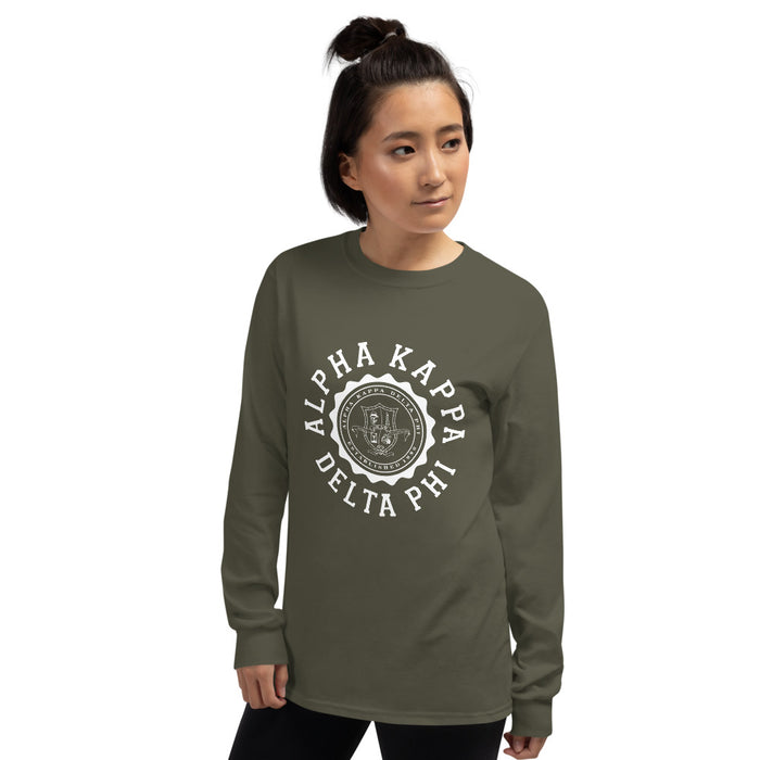 Alpha Kappa Delta Phi Crest Long Sleeve Shirt alpha Kappa Delta Phi Crest Long Sleeve Shirt