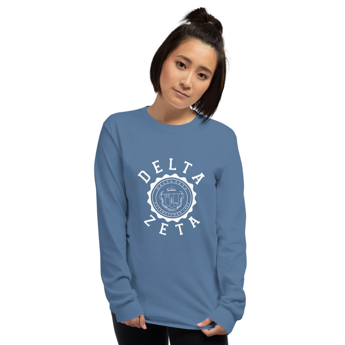 Delta Zeta Crest Long Sleeve Shirt Delta Zeta Crest Long Sleeve Shirt