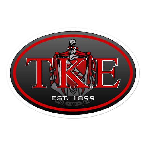 Tau Kappa Epsilon Oval Bubble-free stickers