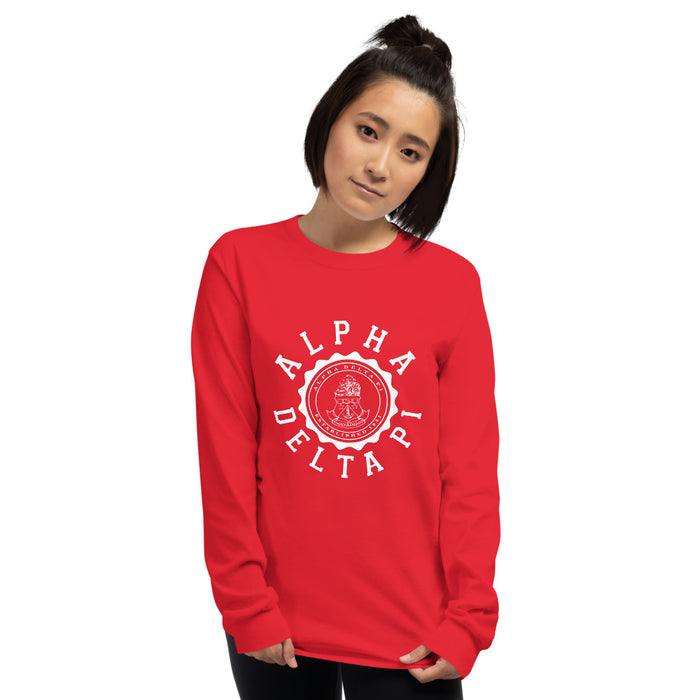 Alpha Delta Pi Crest Long Sleeve Shirt Alpha Delta Pi Crest Long Sleeve Shirt
