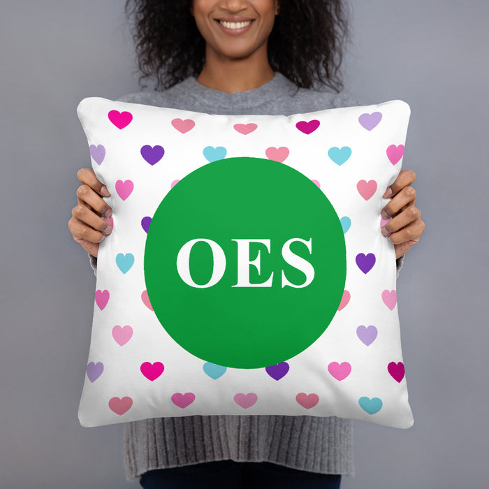 Oes Order Of The Eastern Star Hearts Basic Pillow OES - Order of the Eastern Star Hearts Basic Pillow