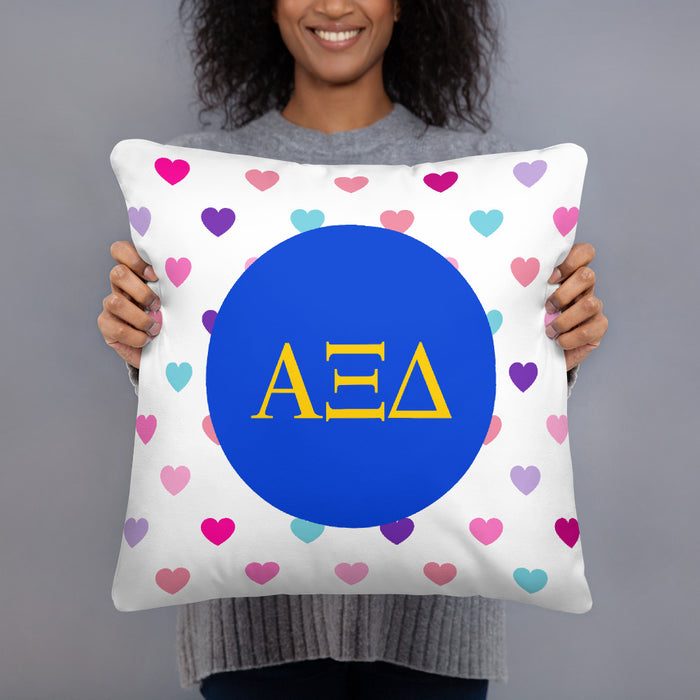 Alpha Xi Delta Hearts Basic Pillow Alpha Xi Delta Hearts Basic Pillow