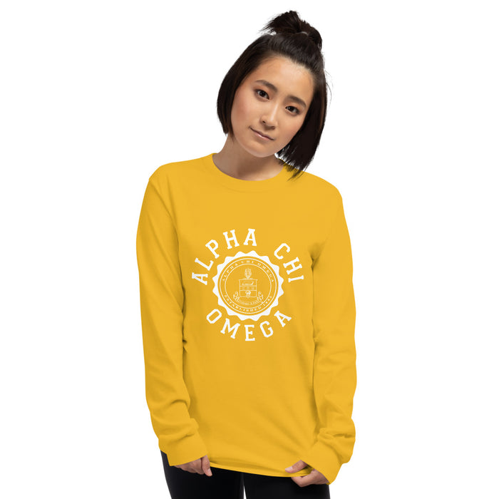 Alpha Chi Omega Crest Long Sleeve Shirt Alpha Chi Omega Crest Long Sleeve Shirt