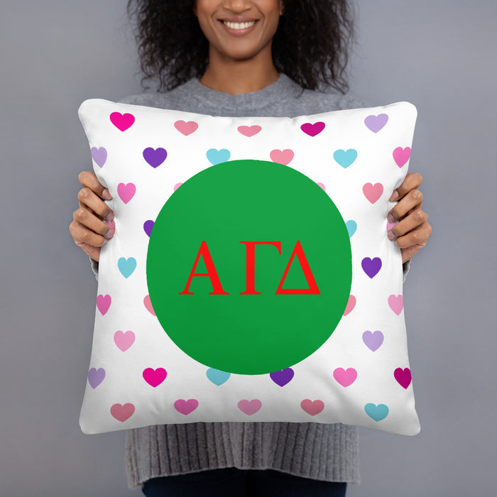 Alpha Gamma Delta Hearts Basic Pillow Alpha Gamma Delta Hearts Basic Pillow