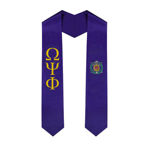 Omega Psi Phi Simple Sash Stole