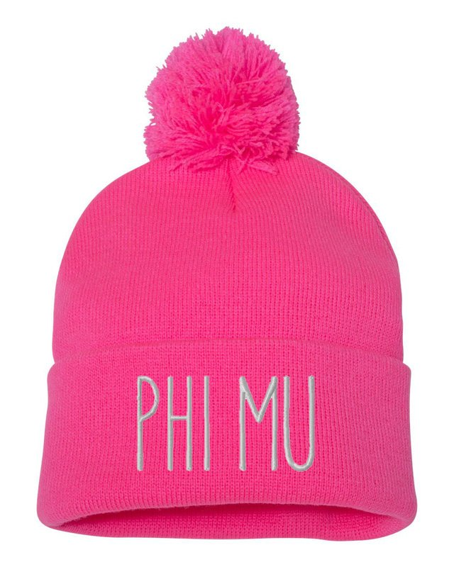 Sorority Beanie With Pom Pom Sorority Beanie With Pom Pom