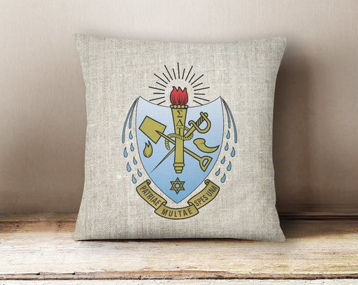 Panhellenic Linen Shield Throw Pillow