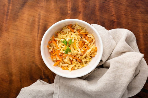 Fragrant cauliflower and carrot rice