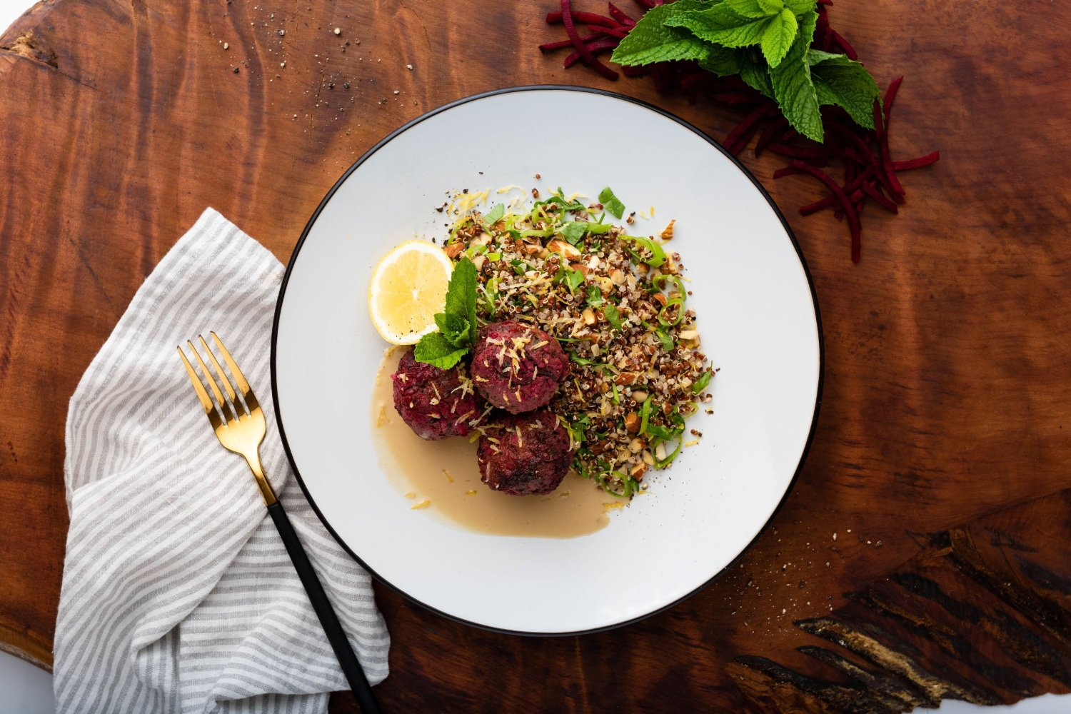 Middle Eastern lamb kofta salad.