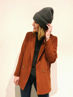 Daina Blazer in Brick Red