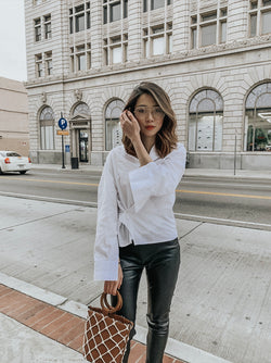 Two-way Cotton Poplin Shirt