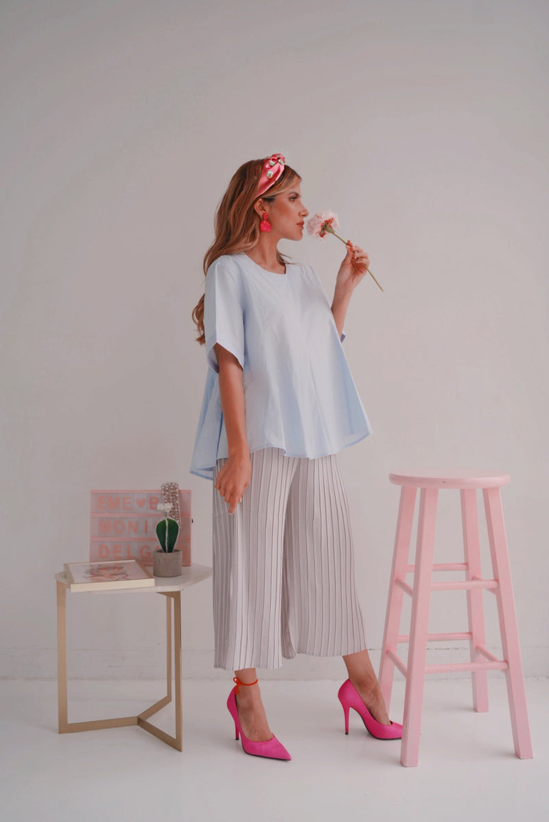 Pleated Sensation Wide Leg Pants