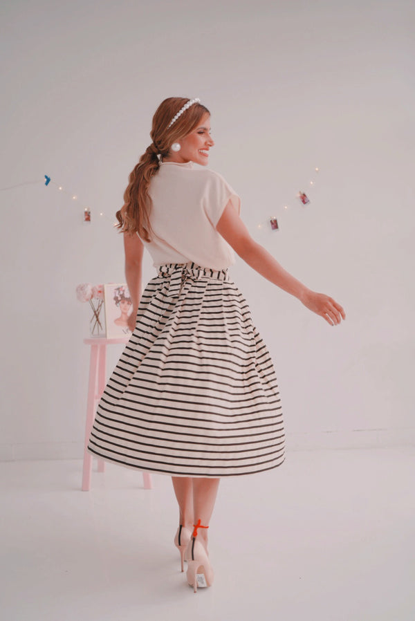 Coco Girl Striped Skirt