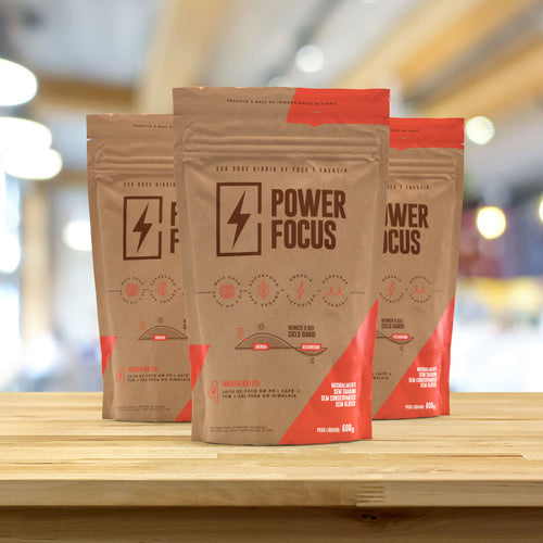 Power Focus - 3 Packs de 600 g