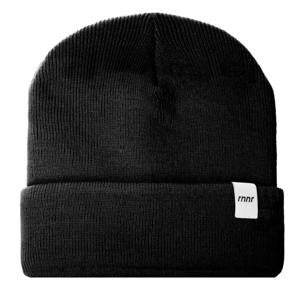 Cold Weather Running Beanie: Black