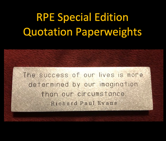 RPE Quotation Paperweights