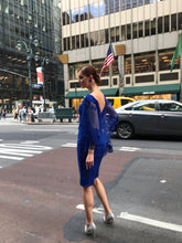 Load image into Gallery viewer, Azul Cocktail Cape Dress Style #2892