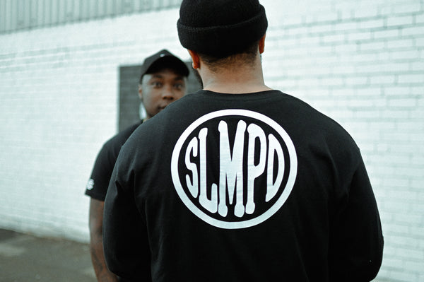 SLMPD DOMINO T SHIRT FROM STREETWEAR BRAND SLMPD CO STREET WEAR GARMENT CLOTHING APPAREL SLMPDCO BLACK TEE DIGBETH BIRMINGHAM