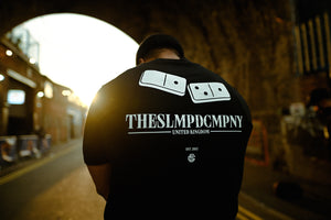SLMPD DOMINO T SHIRT FROM STREETWEAR BRAND SLMPD CO STREET WEAR GARMENT CLOTHING APPAREL SLMPDCO BLACK TEE
