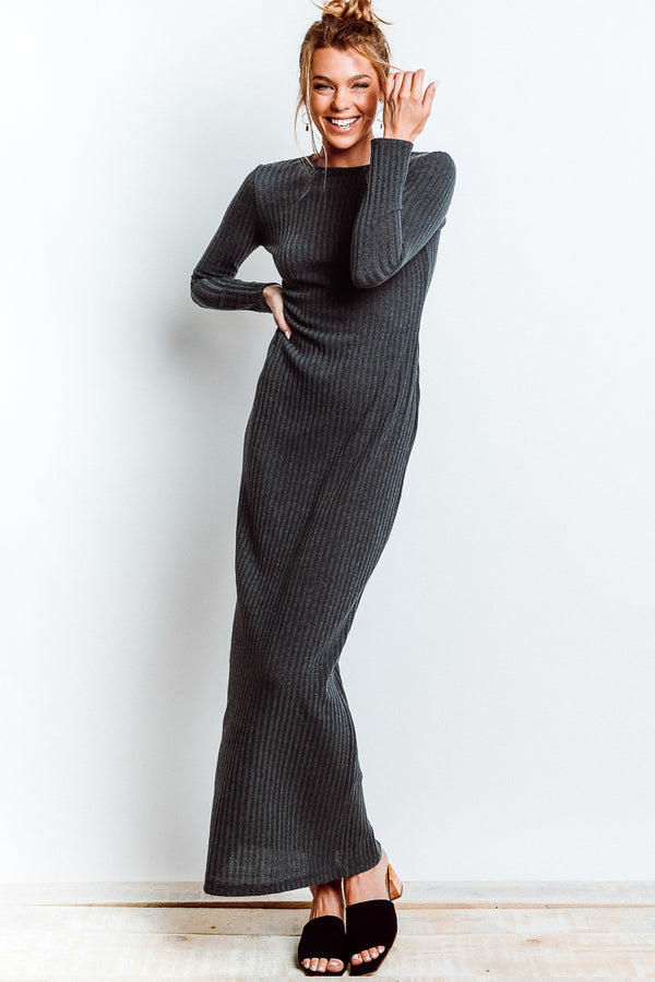 MONTE Cameron Sweater Dress - Lead Knit