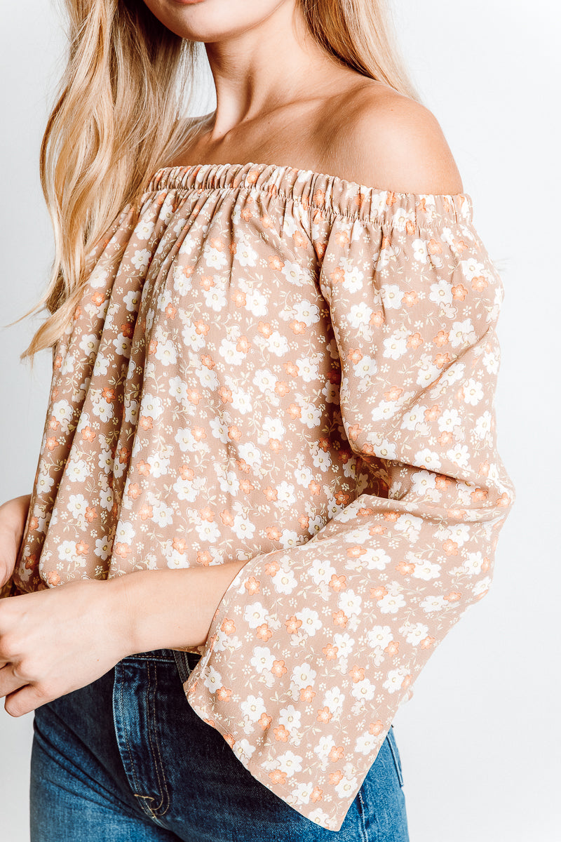 MONTE Cecile Off Shoulder Top -